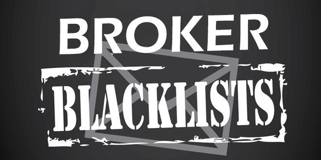 Blacklist forex broker