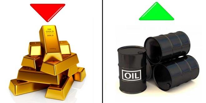 Oro e Petrolio protagonisti ma con trend opposti
