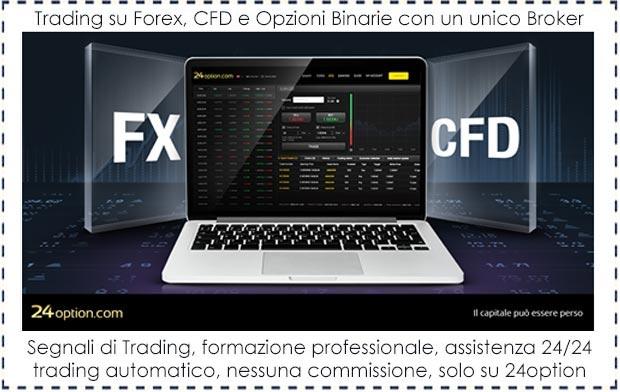 Trading su Forex, CFD e Opzioni Binarie con un'unico Broker