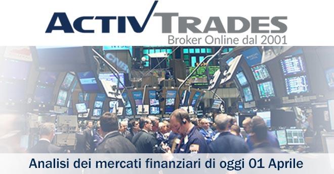 51854ad775 Primo appuntamento del mese di aprile con l'ActivTrades Markets Commentary.  Nell'analisi. Analisi dei mercati finanziari ...