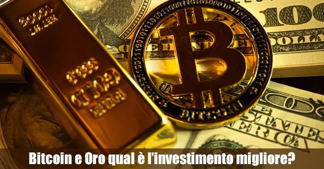 investimento in oro con bitcoin